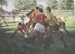 British Lions Countersigned By Finlay Calder by Sherree Valentine Daines -  sized 19x14 inches. Available from Whitewall Galleries